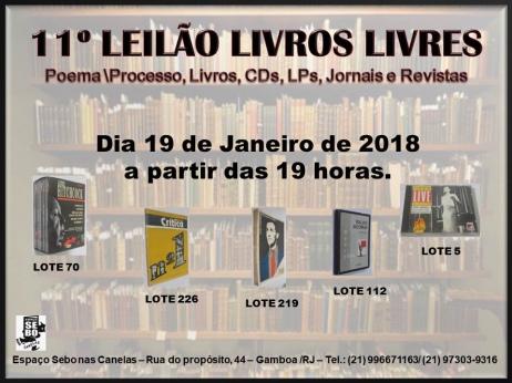 11º LEILÃO LIVROS LIVRES - POEMA-PROCESSO, LIVROS, CDs, PERIÓDICOS