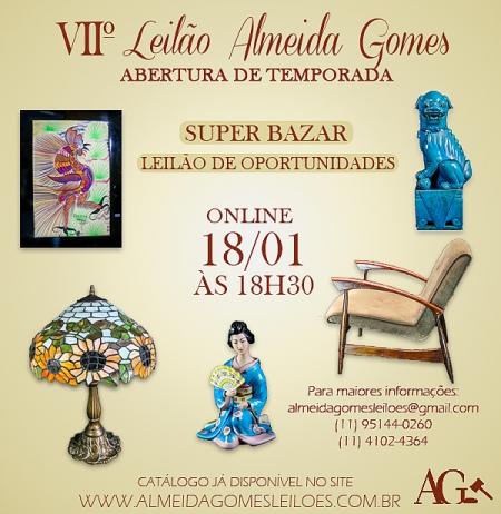 VII LEILÃO ALMEIDA GOMES - ABERTURA DE TEMPORADA