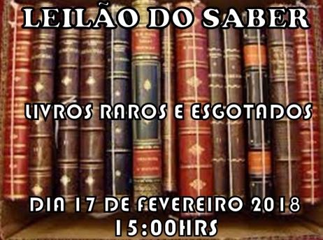 LEILÃO DO SABER - LIVROS RAROS E ESGOTADOS
