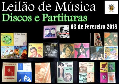 LEILÃO DE MÚSICA - DISCOS E PARTITURAS