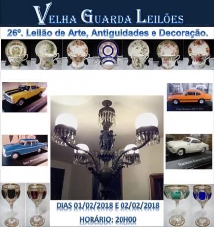 26º LEILÃO VELHA GUARDA LEILÕES - Arte, Antiguidades, Decoração  e Colecionismo