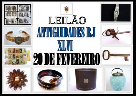 LEILÃO ANTIGUIDADES RJ XLVI