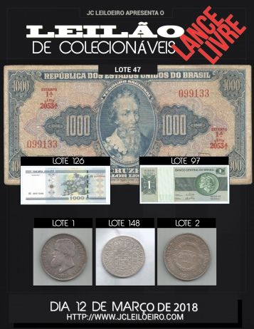 LEILÃO DE COLECIONÁVEIS LANCE LIVRE