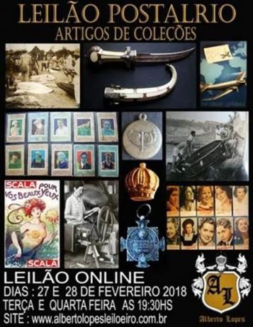 LEILÕES POSTAL RIO - ARTIGOS DE COLEÇÕES