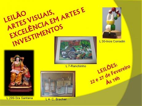 LEILÃO ARTES VISUAIS - EXCELÊNCIA EM ARTES E INVESTIMENTOS