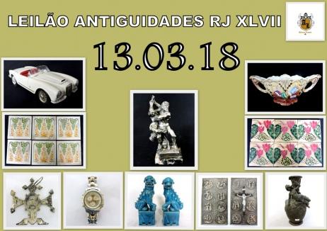 LEILÃO ANTIGUIDADES RJ XLVII