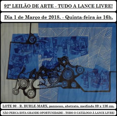 92º LEILÃO DE ARTE - TUDO A LANCE LIVRE!