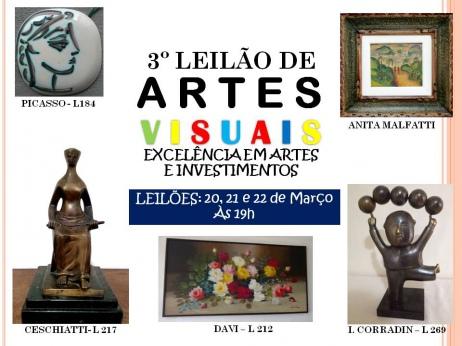 3º LEILÃO DE ARTES VISUAIS - EXCELÊNCIA EM ARTES E INVESTIMENTOS
