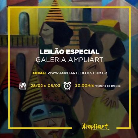 Leilão especial Galeria Ampliart