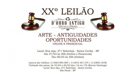 XXº LEILÃO DE ARTE E ANTIGUIDADES