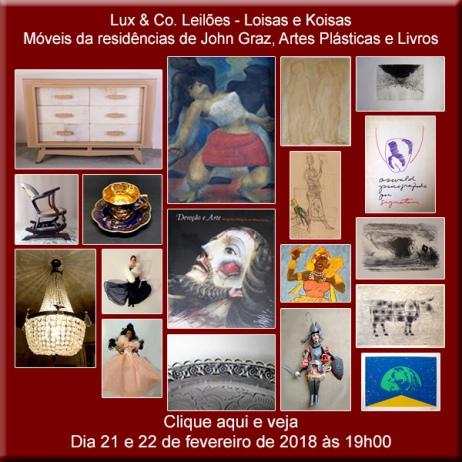 Lux & Co. Leilões - Loisas e Koisas - 26 e 27/03/2018 - 20h00