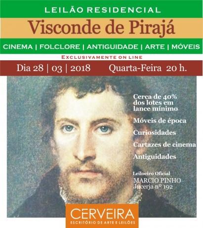 VERANO III - GRANDE LEILÃO DE OBJETOS DECORATIVOS, ARTES, ANTIGUIDADES E VARIEDADES