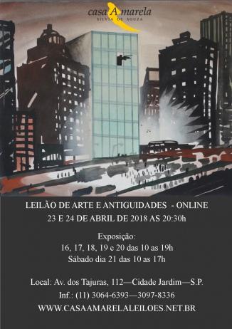 LEILÃO DE ARTE E ANTIGUIDADES - SÃO PAULO -SP