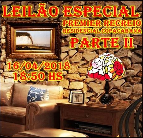 LEILÃO ESPECIAL PREMIER RECREIO-RESIDENCIAL COPACABANA PARTE II