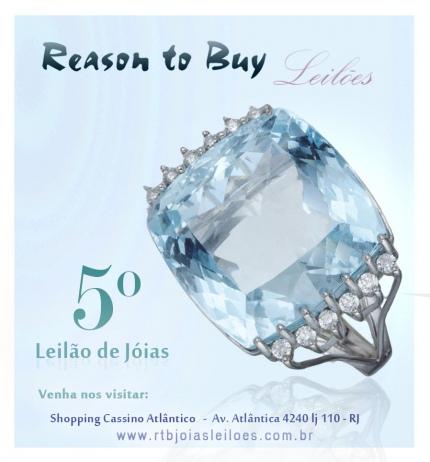 5º Leilão de Jóias da Reason to Buy Joalheria