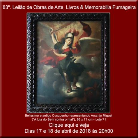 83º Leilão de Obras de Arte e Livros & Memorabilia Fumageira - Acervo DPilon 17 e 18/04/2018 - 20h
