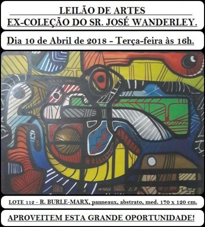 LEILÃO DE ARTES - EX COLEÇÃO DO SR. JOSÉ WANDERLEY.