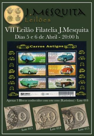 VII LEILÃO RELÂMPAGO J.MESQUITA - 100% FILATELIA - 99% A LANCE LIVRE, inclusive OLHOS DE BOI !!!