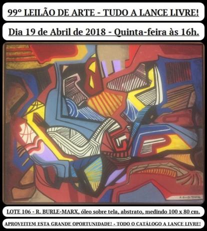 99º LEILÃO DE ARTE - TUDO A LANCE LIVRE!