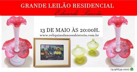 LEILÃO DE ARTE E ANTIGUIDADES: Antiquário: Eduardo Paixão
