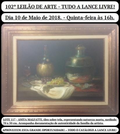 102º LEILÃO DE ARTE - TUDO A LANCE LIVRE!