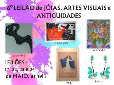 6º LEILÃO de JÓIAS, ARTES VISUAIS e ANTIGUIDADES