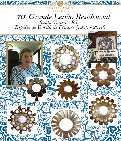 70º GRANDE LEILÃO RESIDENCIAL SANTA TERESA / RJ - ESPÓLIO DE DORITH DE PENASSE (1930 - 2018)