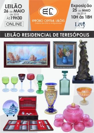 LEILÃO RESIDENCIAL DE TERESÓPOLIS EMPÓRIO CENTRAL ARTE E ANTIGUIDADES