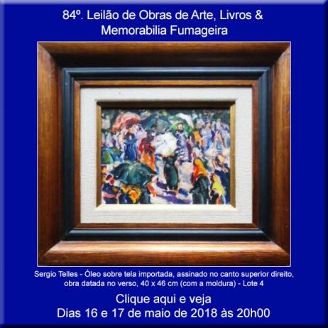 84º Leilão de Obras de Arte e Livros & Memorabilia Fumageira - Acervo DPilon 16 e 17/05/2018 - 20h