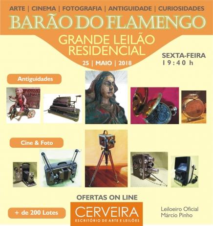 GRANDE LEILÃO RESIDENCIAL BARÃO DO FLAMENGO - CINEMA   FOTOGRAFIA   ANTIGUIDADE   ARTE