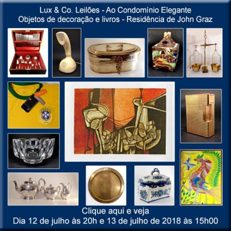 Lux & Co. Leilões -  Ao Condomínio Elegante - 12 e 13/07/2018