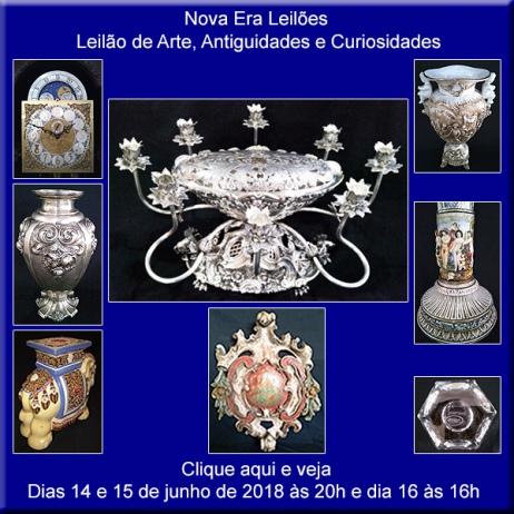 Leilão de Arte e Antiguidades - Nova Era Leilões - 14, 15 e 16/06/2018