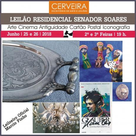 LEILÃO RESIDENCIAL SENADOR SOARES - Arte  Cinema  Antiguidade  Cartão Postal  Iconografia