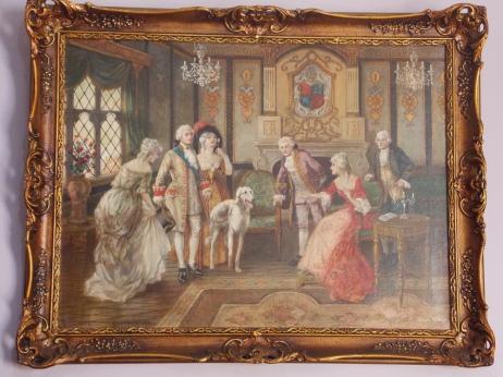 Leilão de obras de arte, antiguidades e móveis