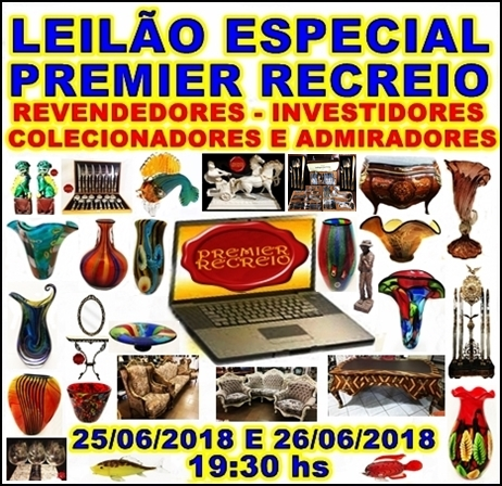 LEILÃO ESPECIAL PREMIER RECREIO CATÁLOGO PARA REVENDEDORES,INVESTIDORES,COLECIONADORES E ADMIRADORES