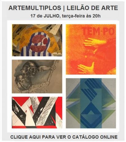 ARTEMULTIPLOS  | LEILÂO DE ARTE | 17 de Julho às 20h