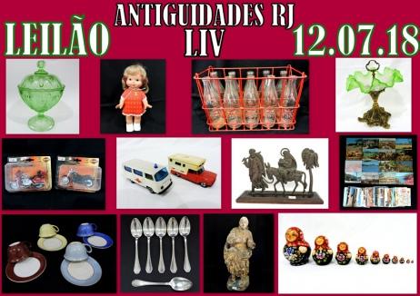 LEILÃO ANTIGUIDADES RJ  LIV