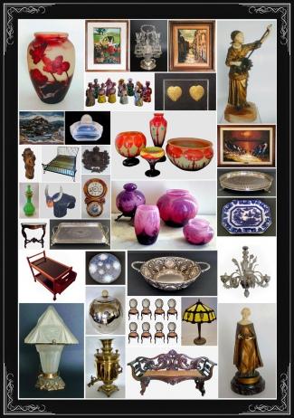 Leilão Residencial Leblon, com destaque para a grande coleção de vidros art deco.
