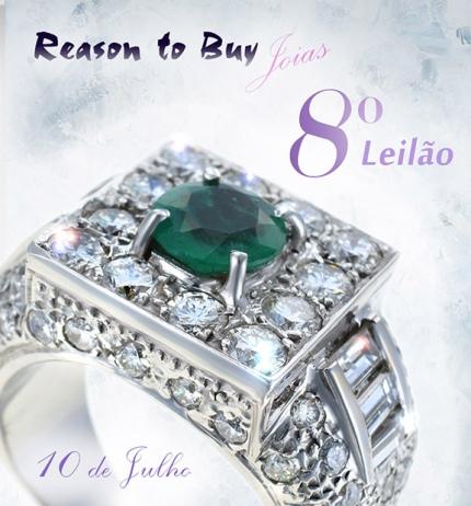 8º Leilão de Joias da Reason to Buy Joalheria - Queima de Estoque