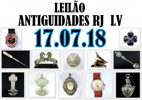 LEILÃO ANTIGUIDADES RJ  LV
