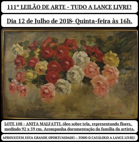111º LEILÃO DE ARTE - TUDO A LANCE LIVRE!