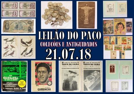 LEILÃO DO PAÇO - COLEÇÕES E ANTIGUIDADES.