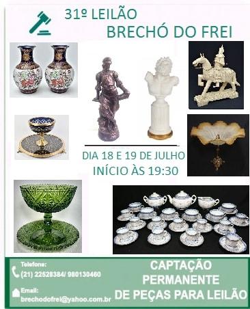 31º GRANDE LEILÃO BRECHÓ DO FREI - JULHO