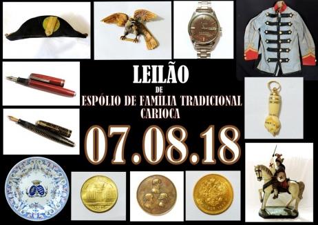 LEILÃO DE ESPÓLIO DE FAMÍLIA TRADICIONAL CARIOCA