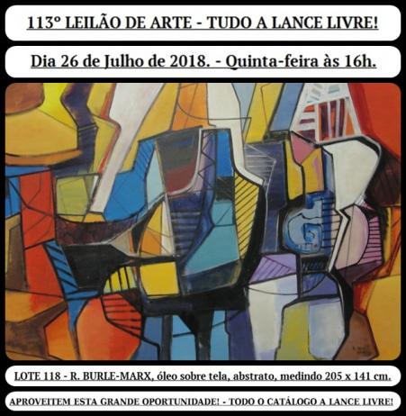 113º LEILÃO DE ARTE - TUDO A LANCE LIVRE!