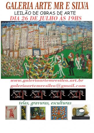 LEILÃO GALERIA ARTE MR E SILVA TEL 11 20517192