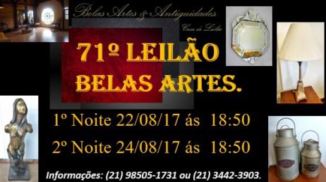 71º Leilão Belas Artes e Antiguidades
