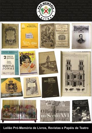 Leilão Pró-Memória de Livros, Revistas e Papéis de Teatro