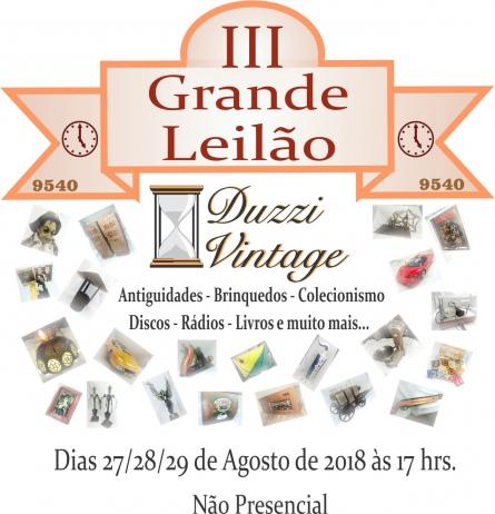 III GRANDE LEILÃO DUZZIVINTAGE - Antiguidades -Brinquedos-Colecionismo-Discos-Livros e muito mais...