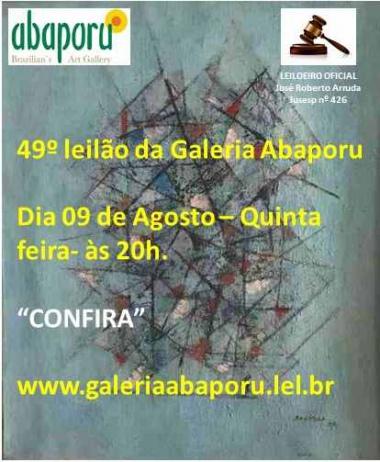 49º Leilão da Abaporu Brazilians Art Gallery